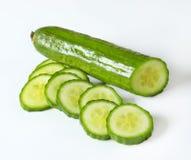 Cetriolo verde affettato Immagini Stock Libere da Diritti