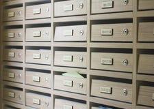 Boîte aux lettres en bois Photographie stock libre de droits