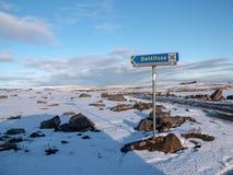 Cette manière à Dettifoss de l'Islande image libre de droits
