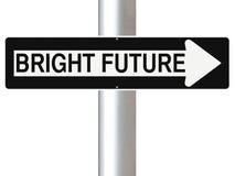 Cette manière à un avenir lumineux Photographie stock libre de droits