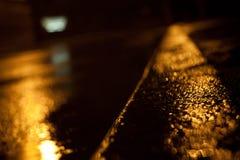 Cette nuit était la pluie Photographie stock libre de droits