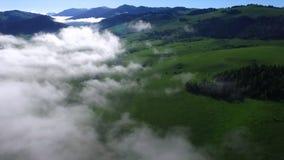 Cette vidéo est au sujet des montagnes dans les nuages banque de vidéos