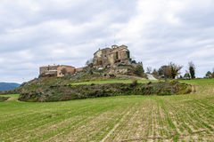Ceuro城堡在卡斯特利亚尔德拉里韦拉Solsones西班牙 图库摄影
