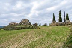 Ceuro castle in Castellar de la Ribera Solsones Spain. Royalty Free Stock Photos