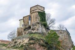 Ceuro kasztel w Castellar De Los angeles Ribera Solsones Hiszpania Obraz Royalty Free