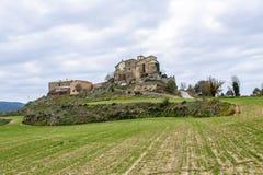 Ceuro kasztel w Castellar De Los angeles Ribera Solsones Hiszpania Fotografia Stock