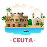 Ceuta country design template Flat cartoon style w Stock Images