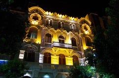 Ceuta na noite Imagem de Stock
