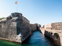 Ceuta. A navigabile moat in the castle of Ceuta, Spain Royalty Free Stock Photo