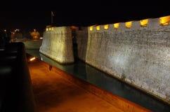 Ceuta par nuit Photographie stock libre de droits