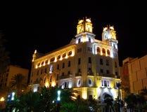 Ceuta por noche Imágenes de archivo libres de regalías