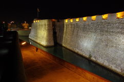 Ceuta por noche Fotografía de archivo libre de regalías