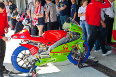 CEV冠军的125cc的Juanfran格瓦拉飞行员 库存图片