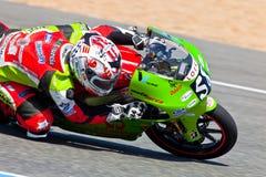 CEV冠军的125cc的Juanfran格瓦拉飞行员 免版税图库摄影