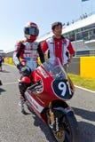 CEV冠军的125cc的Mori Syunya飞行员 库存图片
