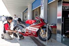 CEV冠军的125cc的Mori Syunya飞行员 免版税库存照片