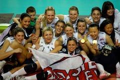 cev杯子欧洲排球妇女 免版税图库摄影