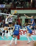 CEV, cuvette européenne de femmes de volleyball Images stock