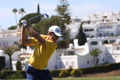 Cevaer cristão no golfe aberto, Marbella de Andalucia Fotografia de Stock