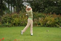 Cevaer, il golf verde del velluto pro-sono, Megeve, 2006 Immagine Stock Libera da Diritti