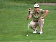 Cevaer, il golf verde del velluto pro-sono, Megeve, 2006 Immagini Stock