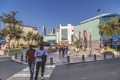 Cevahir Mall, Istanbul. ISTANBUL, TURKEY - May 8, 2016: Exterior view of Cevahir Shopping and Entertainment Center, a modern shopping mall complex located on Stock Photography
