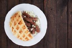 Cevapcici, bosnian minced meat kebab Royalty Free Stock Photo