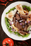 Cevapcici, bosnian minced meat kebab Royalty Free Stock Images