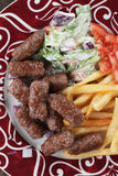 Cevapcici, bosnian minced meat kebab Stock Photo