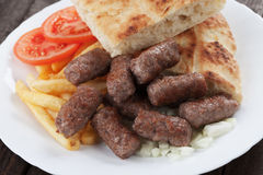 Cevapcici, bosnian minced meat kebab Stock Image