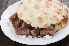 Cevapcici, bosnian minced meat kebab Stock Photo