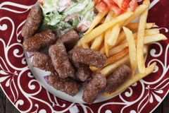 Cevapcici, bosnian minced meat kebab Stock Photos