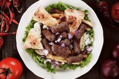Cevapcici, bosnian minced meat kebab Royalty Free Stock Photography