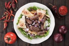 Cevapcici, bosnian minced meat kebab Royalty Free Stock Image