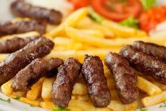 Cevapcici-Mahlzeit Stockfoto