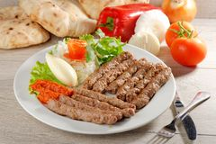 Cevapcici - minced meat Royalty Free Stock Images