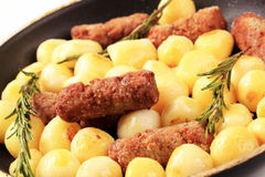 Cevapcici with potatoes Stock Photos