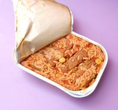 Cevapcici with rice Stock Images