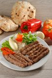 Cevapcici, a small skinless sausage cooked on the barbecue Stock Image