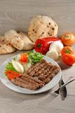 Cevapcici, a small skinless sausage cooked on the barbecue Stock Images