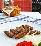 Cevapcici - Typical Croatian meat specialty Royalty Free Stock Images