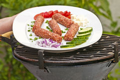 Cevapi on barbecue Stock Images