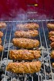 Cevapi on the BBQ Stock Photos