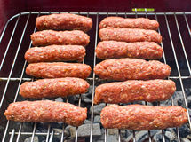 Cevapi on the BBQ Stock Photography