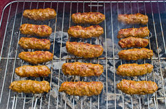 Cevapi on the BBQ Stock Images