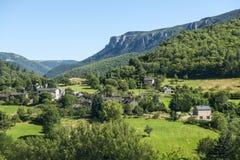 Cevennes: berglandschap royalty-vrije stock fotografie