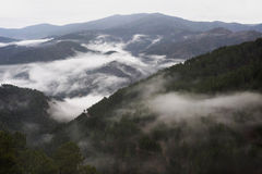 Cevennes mountain range Royalty Free Stock Images