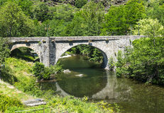 Cevennes: old bridge Royalty Free Stock Photo