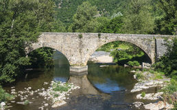 Cevennes: old bridge Stock Photo