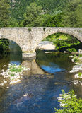 Cevennes: old bridge Royalty Free Stock Photos